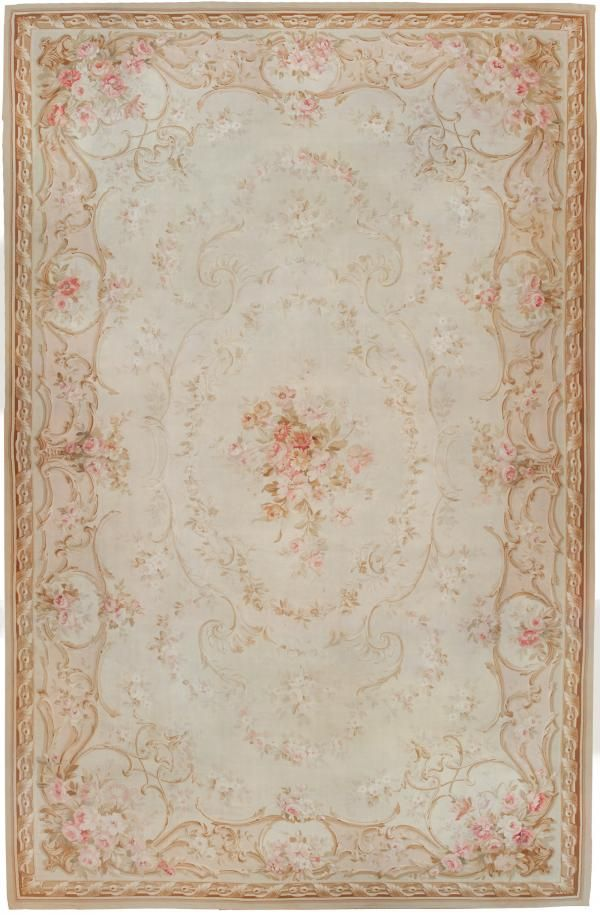 Antique Aubusson Carpet #45465  http://nazmiyalantiquerugs.com/antique-rugs/aubusson/