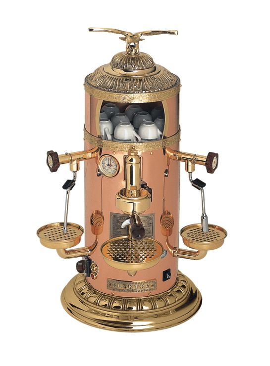 #LGLimitlessDesign #Contest  Beautiful appliances deserve to be featured, not hidden away! How cool would this steampunk style espresso machine be in the kitchen?