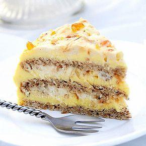 Nina's  nuts cake. Египетский торт. Корж с 2х белков лучше печь в маленькой квадратной форме  20 минут. NT