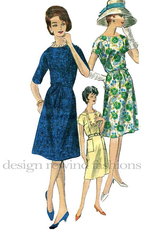 1960s Vogue 5491 Dress w/ Slightly Flared by DesignRewindFashions, $20.001960S Vogue, 20 00 60S, 60S Retro