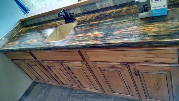 Marquis Cabinets With Seneca Door Style In Rustic Beech