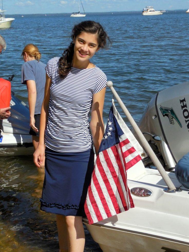 Sun & Swim: SwimwearTutorial {and a Review}, Chesapeake Bay, nautical, jet ski, motor boat, yacht, Land's End fashion, ruched swim top, elas...