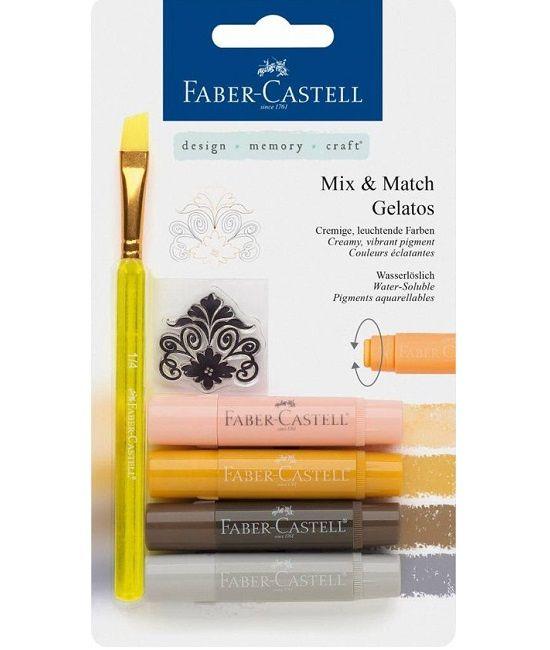 Faber Castell Gelatos - Pigment Sticks - Neutraal 4 st. €13,95
