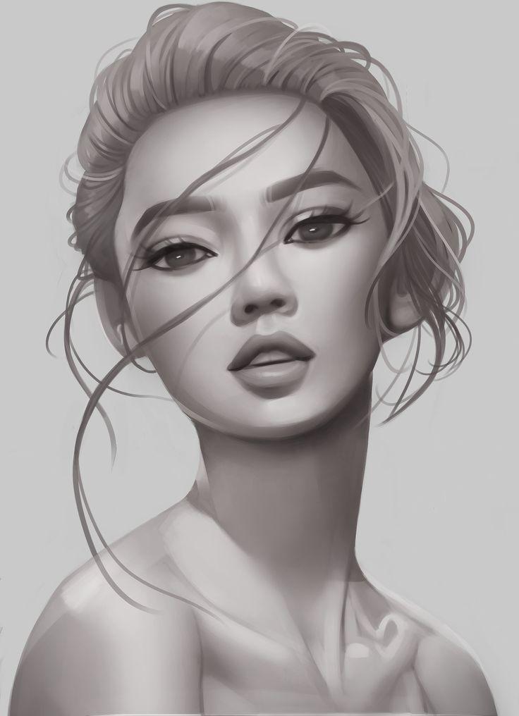 Shading/volume study, Tricia Loren on ArtStation at https://www.artstation.com/artwork/em5Vb