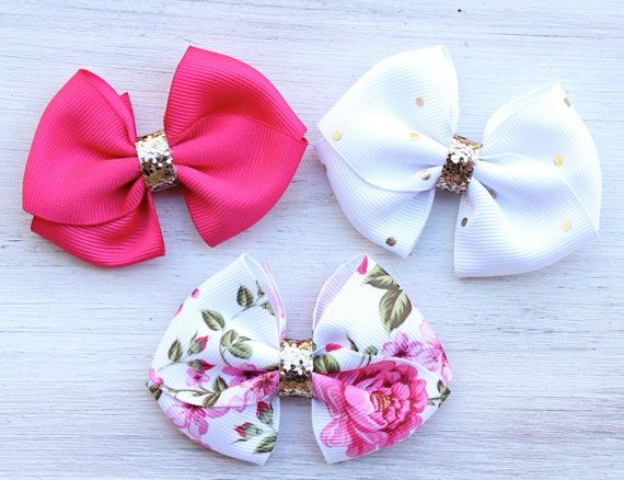Puppy Bows Dog Hair Bows Dog Collar Bows Dog by ModernMeCollection