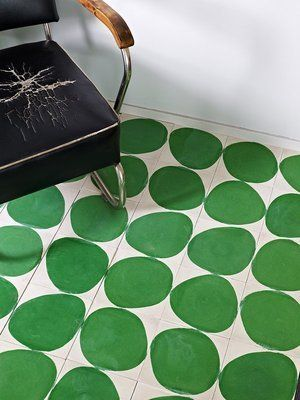 Love these encaustic floor tiles by Swedish Co. Marrakech Design.