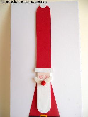 Altro Babbo Natale… ma nuova versione! Questa volta ho utilizzato gli abbassalingua e dei bastoncini per il gelato (comprati in Francia). ...