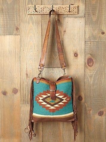 Southwestern inspired cross body bag