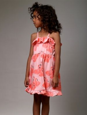 Buy Littlehorn Flamingo Ruffle Dress