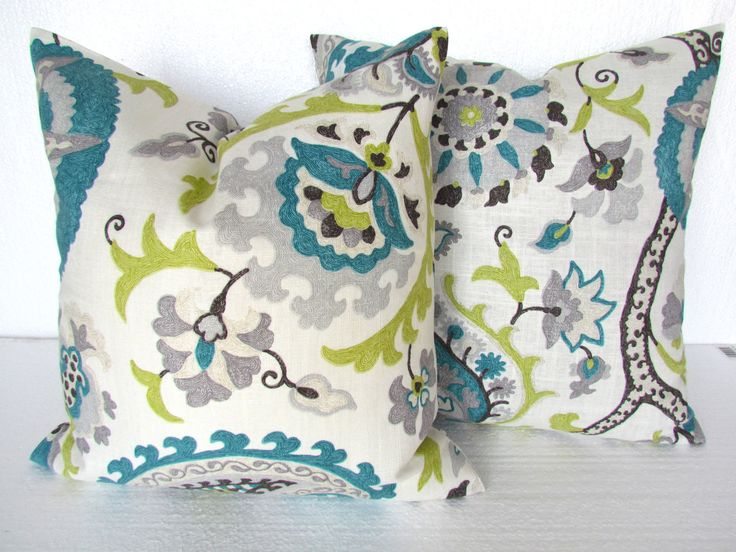 TEAL BLUE PILLOW 16x16  Decorative Throw by SayItWithPillows, $22.95 …