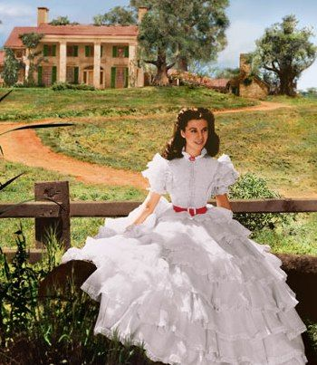 """Always loved this dress--paired with Rhett, of course    Southern Belle - Scarlett O'Hara was the quintessential """"Southern Belle""""."""