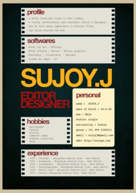 17 Best images about CV // Business Cards // Showreel on Pinterest ...