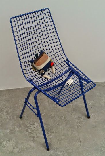 Blue chair by MAMSAM (project from 1970s by Henryk Sztaba)