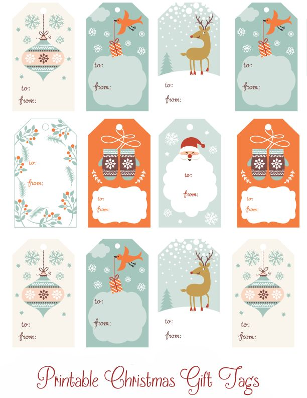 Enjoy these Printable Christmas Gift Tags to help you save some time and money this holiday season.