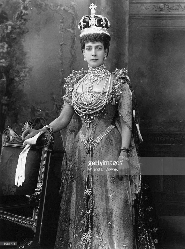 Queen Alexandra , consort of King Edward VII, on the day