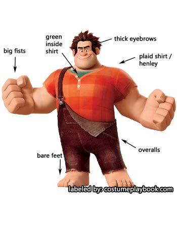 Go lumberjack mode and dress up as Wreck-it Ralph! Full guide at: http://costumeplaybook.com/movies/wreck-it-ralph/2938-dress-up-wreck-ralph-cosplay/