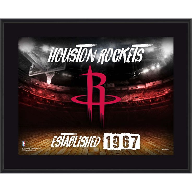 "Houston Rockets Fanatics Authentic 10.5"" x 13"" Sublimated Horizontal Team Logo Plaque"