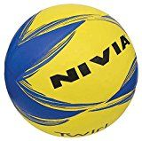 #9: Nivia Twirl Volleyball Size 4 (Yellow/Blue)