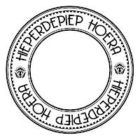 .tekst cirkel Hieperdepiep hoera