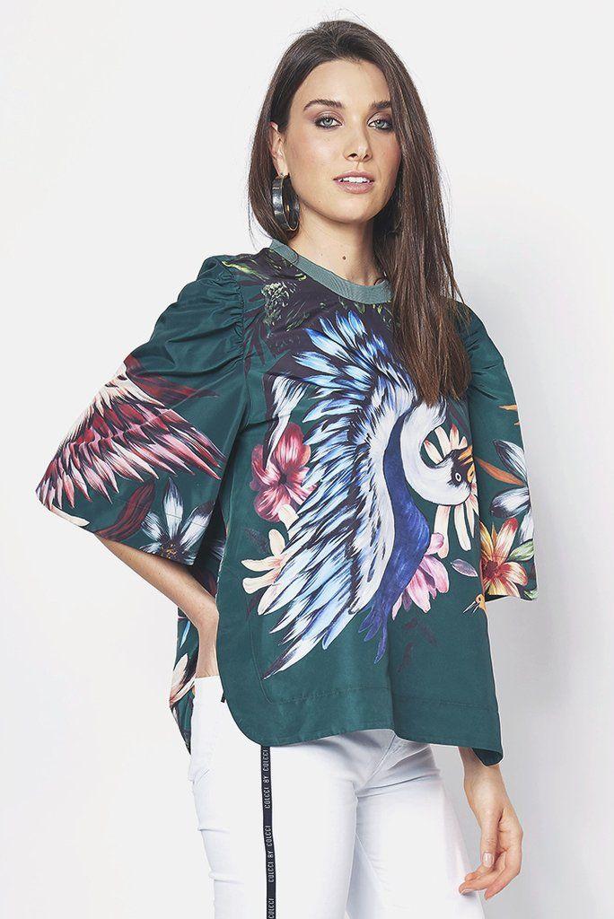 Blusa Estampada Pássaros - SHOP COLCCI OFICIAL  ba84f23d02328
