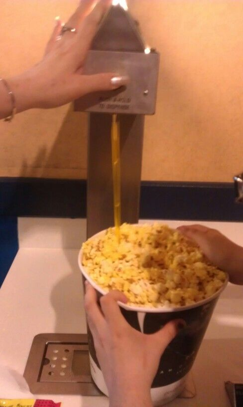 movie theater tip use a straw to get butter topping to