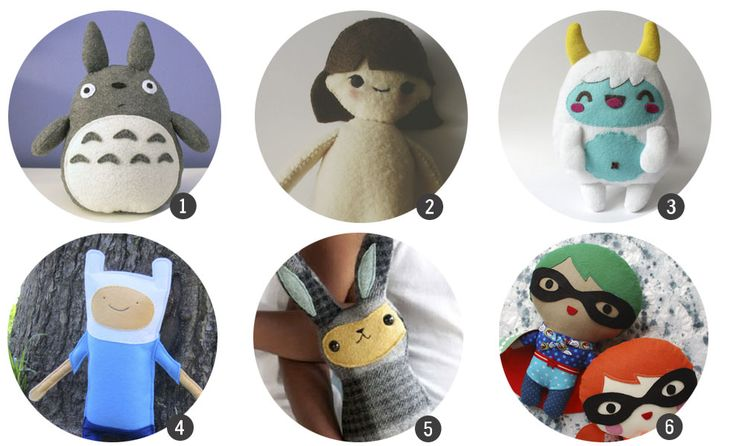 Inspiración DIY: 18 plantillas gratuitas para hacer peluches / blog.cosasmolonas.com