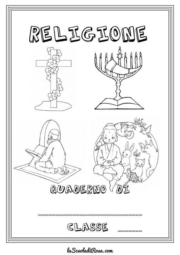 Copertine di religione da colorare la scuola rosa