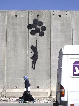 Bansky - this is the piece of graffiti my tattoo is based off of!