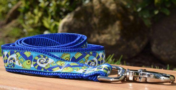 Lizard dog leash / Australian made Gecko dog lead by DelaheyandCo