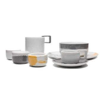 SINGLE SET - Mopsdesign  Porcelain, breakfest SINGLE SET