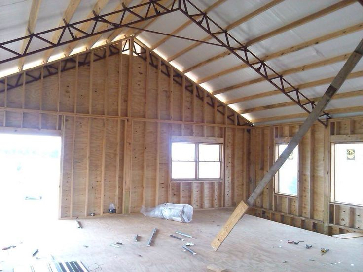 Residential Using Pole Barn Metal Truss System Pole Barn