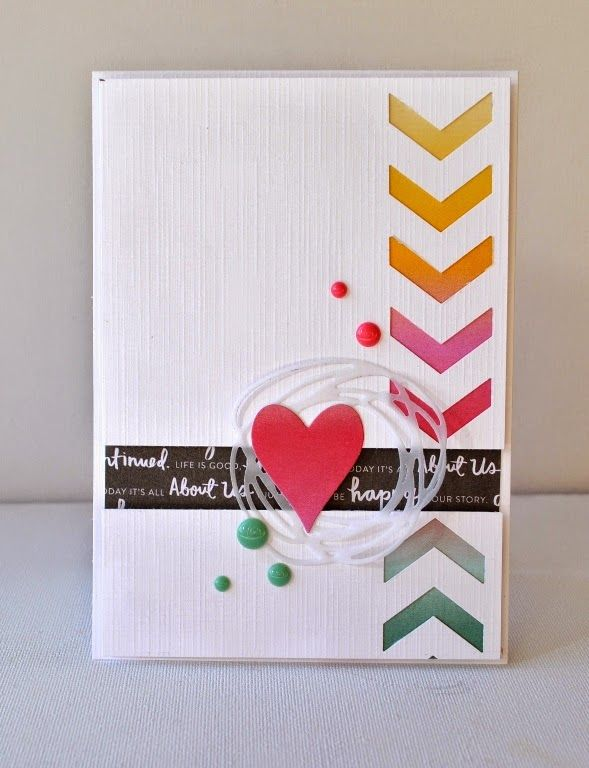 355 best Cards with Hearts images on Pinterest  Heart Paper