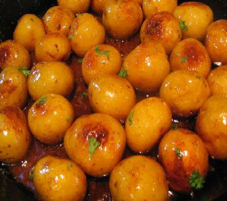 One Perfect Bite: Caramelized Potatoes - Brunede Kartofler