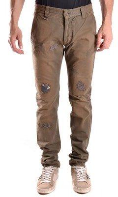 Daniele Alessandrini No Brand Men's Brown Cotton Pants.