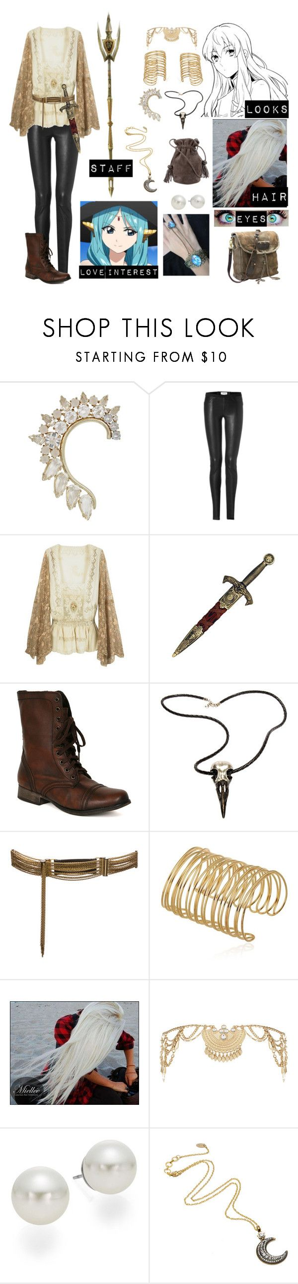 """Magi oc 3"" by gglloyd ❤ liked on Polyvore featuring BCBGMAXAZRIA, Helmut Lang, KING, Steve Madden, Raven Denim, Lanvin, Miss Selfridge, AK Anne Klein, Amrita Singh and Hunting Season"