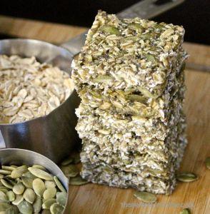 Raw Pumpkin Hemp Seed Protein Bars