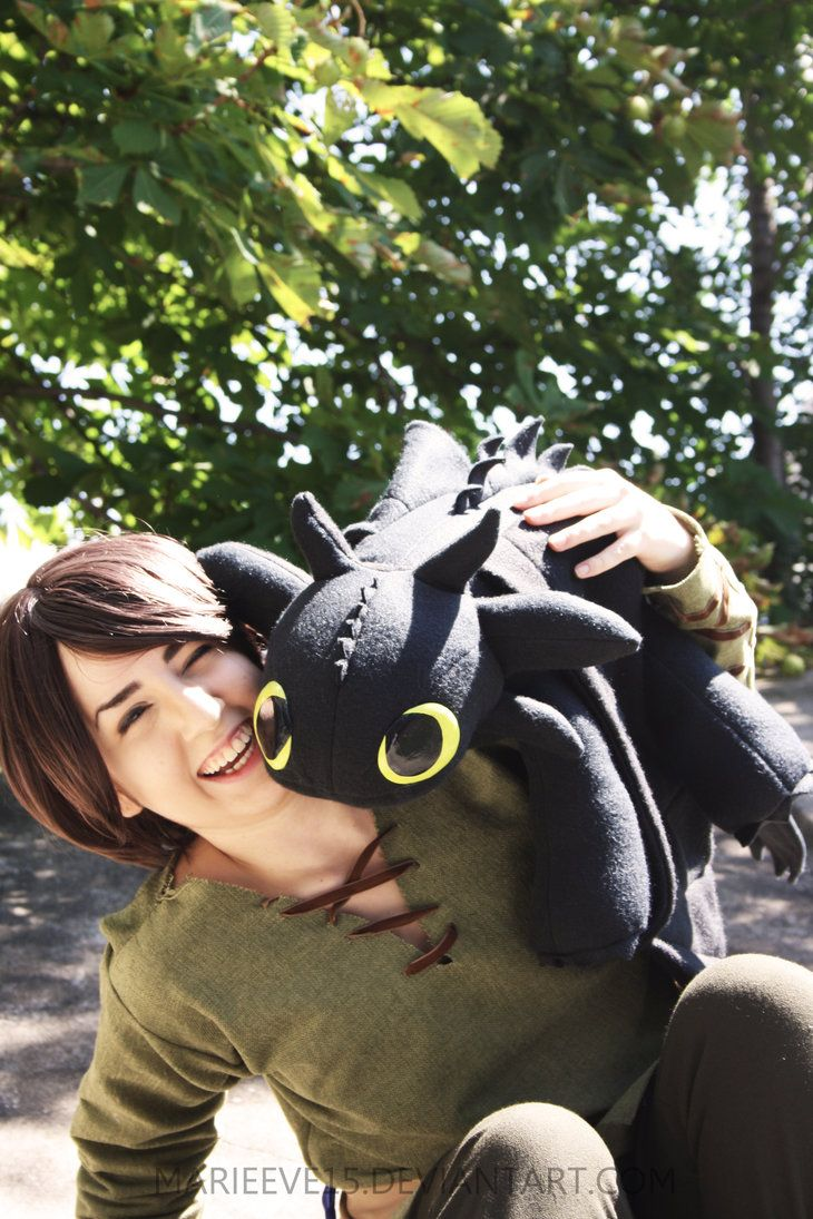 Hiccup and Toothless by *Marieeve15