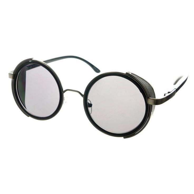 Cool Unisex Metal Retro Vintage Steampunk Round Sunglasses R2640 – FREYRS