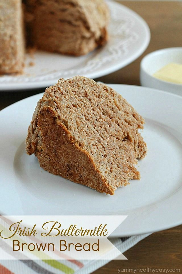 Irish Buttermilk Brown Bread  - hearty whole wheat Irish soda bread. Delicious by itself or as a filling side dish.