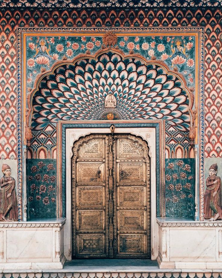 The magnificent Lotus Gate representing the summer season #Jaipur #door #India City Palace, Jaipur