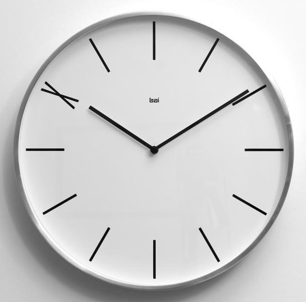Bai Design Bai 15in Perfect Ten Designer Wall Clock A Whimsical Dial Design With The 10 O Clock Represented By The Ro Wall Clock Design Metal Clock Clock