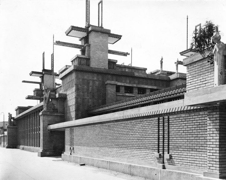 Frank Lloyd Wright Midway Gardens Chicago Illinois Demolished Sculptures By Alfonso Iannelli Photos Henry Fuermann