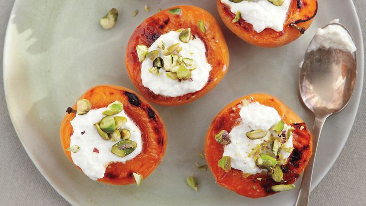 If you like, top the apricots with fresh herbs, such as mint or basil, in addition to the pistachios.
