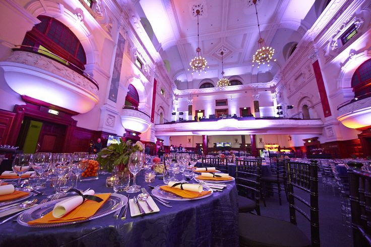 The guests dined and enjoyed the elegance of the Cape Town's City Hall.