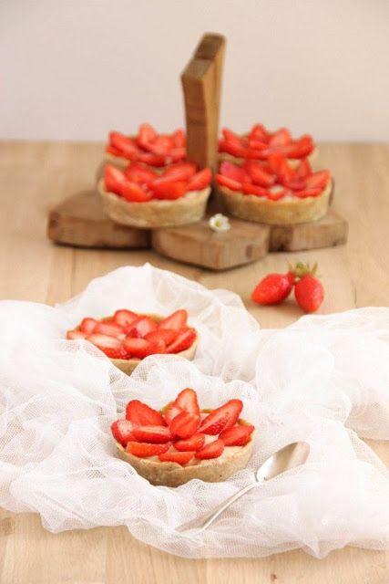 SANS GLUTEN SANS LACTOSE: Tartelettes aux fraises sans gluten et sans lactose
