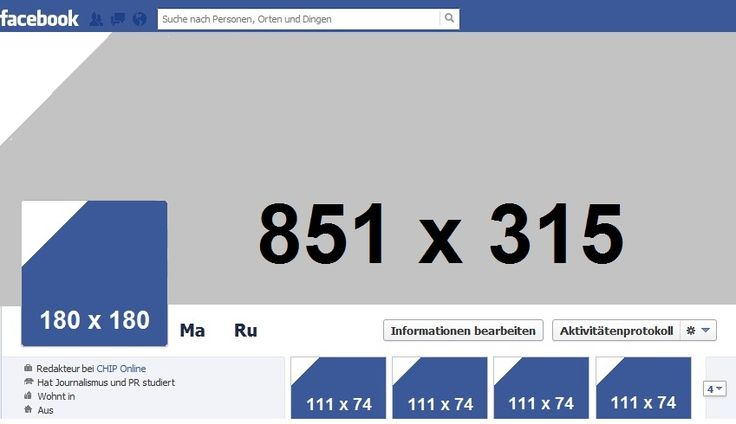 Facebook Page Photo Sizes