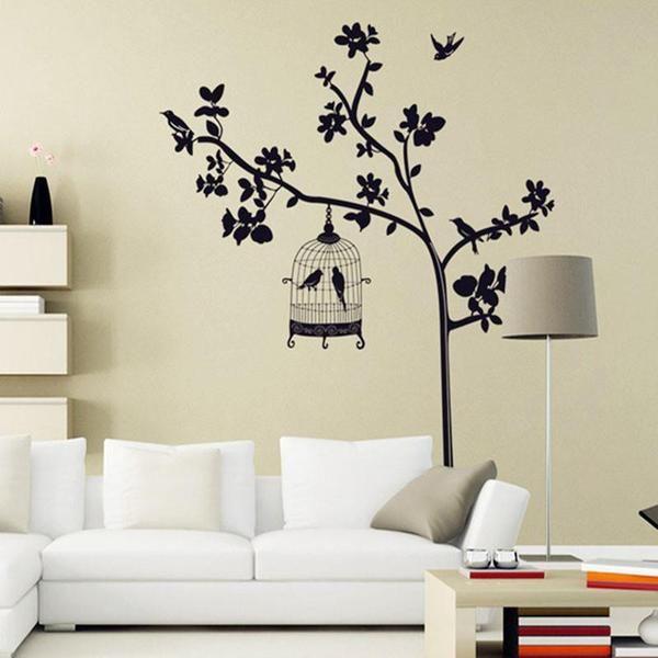 Best Wall Art Designs Images On Pinterest Wall Art Designs - Wall decals birdsbirds couple on branch wall decal beautiful bird vinyl sticker