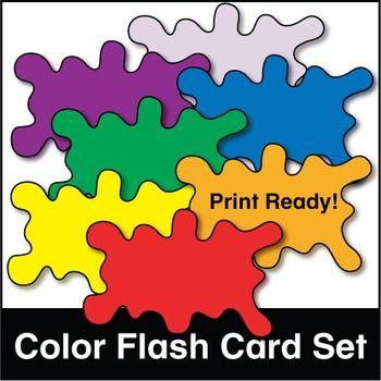ESL Flash Cards-Colors