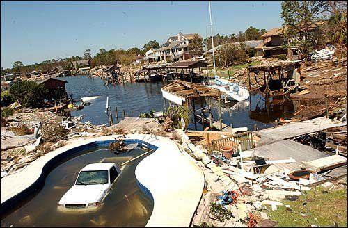 2004 Hurricane Ivan did considerable Damage in Pensacola, Fla.
