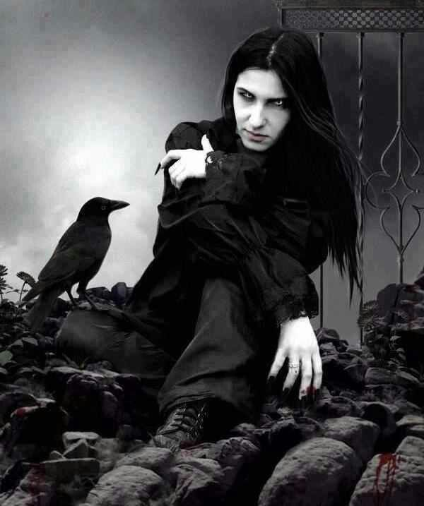 Goth Guy See More Vampire And Raven